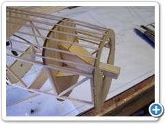 The motor mount is built using a 3/8-square hard balsa stick and the pre-shaped gussets. The right thrust is set using the gussets.