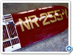 The wing is covered with Nelson Litefilm and Callie Graphics.