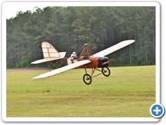"Damon Atwood's 196"" 1919 Emmeselle coming in for a landing"