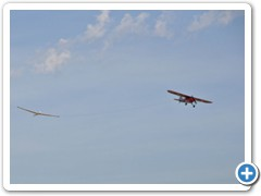 The UMX Carbon Cub with ASK glider in tow.