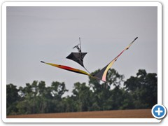 "Chuck Baker of Indianapolis flew his 90"" Warm Canard flying Kite"
