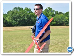 Jason Cole of Hobby Lobby prepares to fly his Dago Red in the Extreme Speed round.