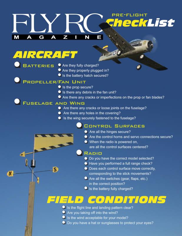 fly rc pre flight checklist fly rc magazine