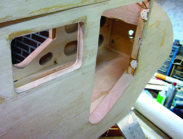Building cabin doors for the Stinson SR-9