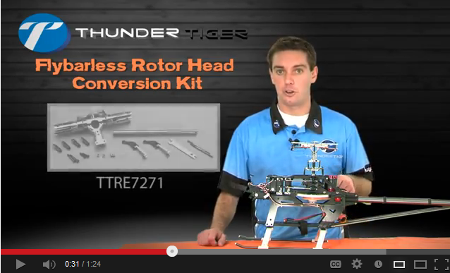 Video: Nick Maxwell Explains Installation of the Thunder Tiger Raptor E550S Flybarless Rotor Head Conversion Kit