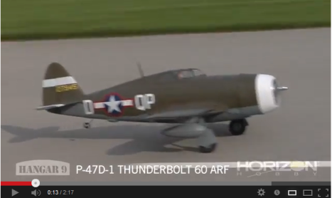 Video: Hangar 9 P-47D-1 Thunderbolt 60 ARF