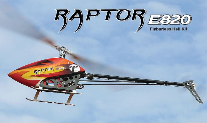 Thunder Tiger Raptor E820 Flybarless Heli Kit