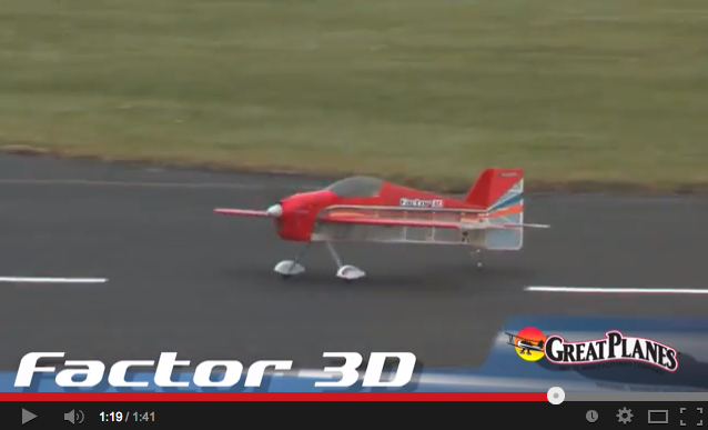Video – Great Planes Factor 3D EP