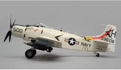 Airfield Skyraider A1 RC War Plane 4 Channel Warbird Almost Ready to Fly 800mm 1