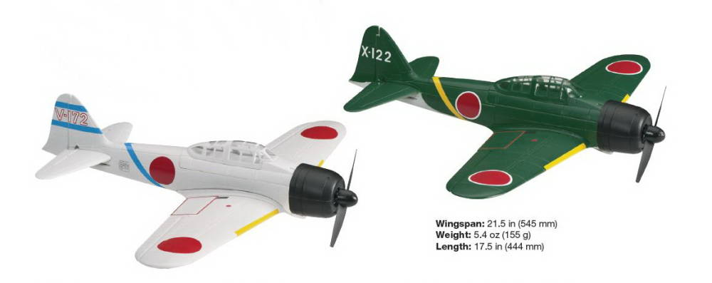 Additional Flyzone AirCore Warbirds Announced ~ Zero and FW-190