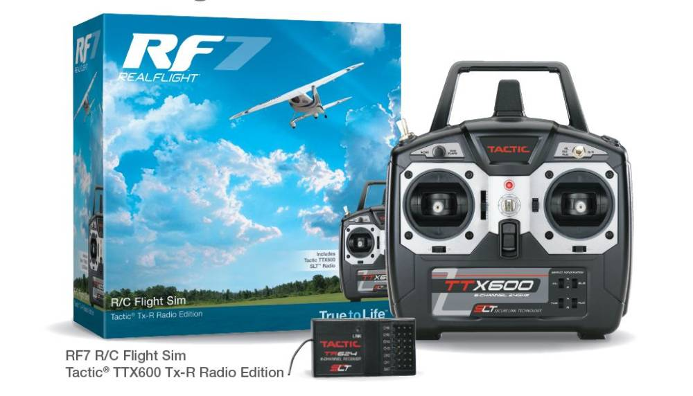 Tactic Receiver Free with Purchase of RealFlight 7 w/TTX600 controller