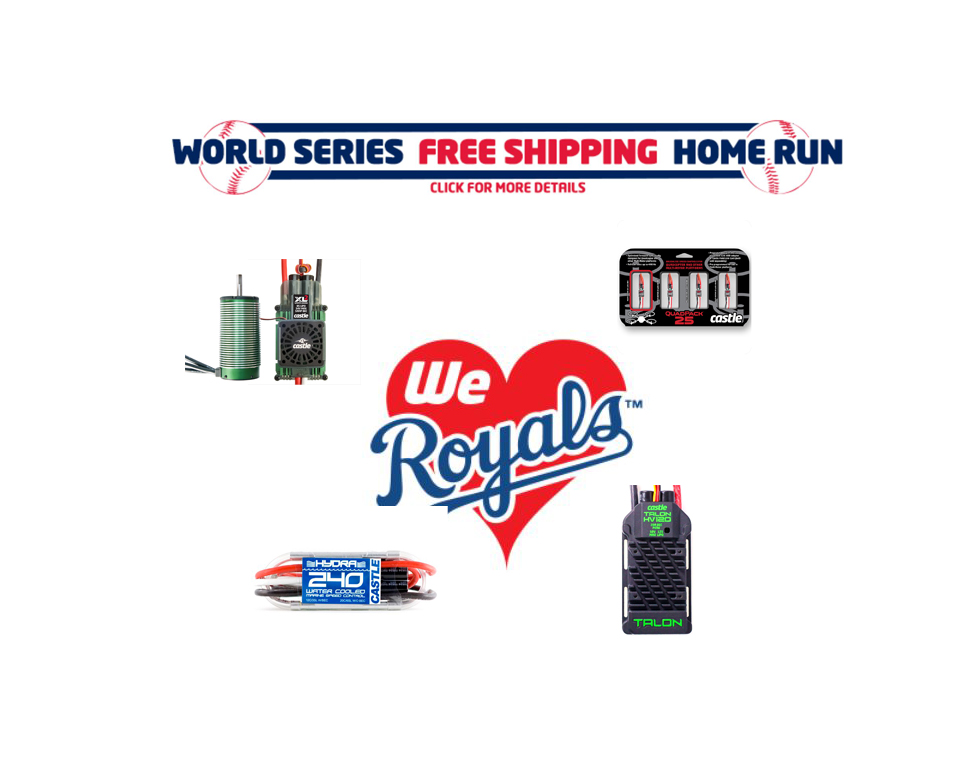 Castle Creations Celebrates the Kansas City Royals Getting to the World Series for the First Time in 29 Years with FREE SHIPPING!