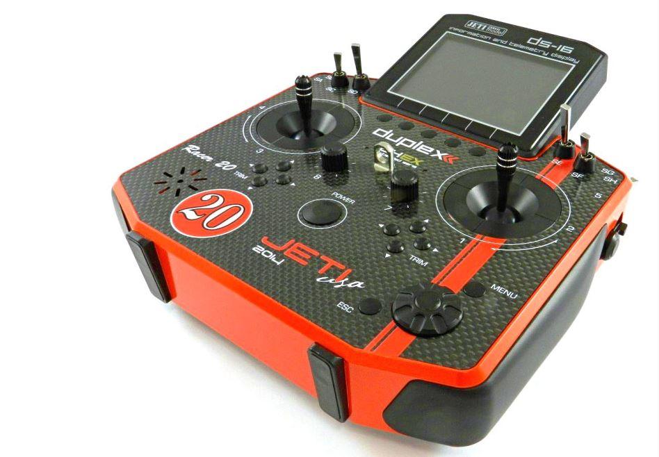 Esprit Model Announces Limited Edition Red Racer & Black Phoenix Jeti Duplex 2.4GHz DS-16 Carbon Radio Systems
