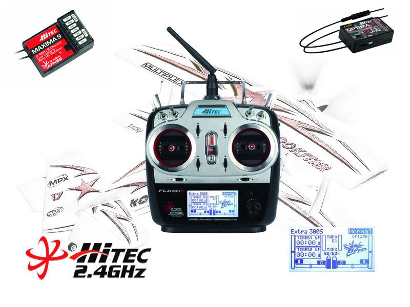 Hitec Flash 8 Eight Channel 2.4GHz Aircraft Computer Radio