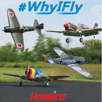 Tell Hobbico Why YOU Fly and Win Your Choice of Four Top Flite Warbirds