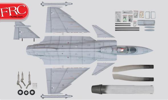 Phoenix Model 1/7 Scale Gripen 90mm EDF Jet ARF