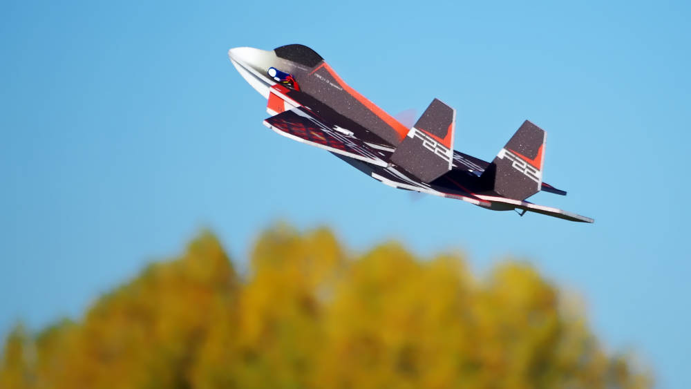 Review: Twisted Hobbys RC Factory EPP F-22 Raptor Pusher Jet