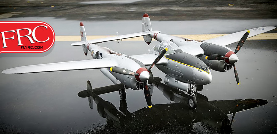 FlightLineRC P-38L Lightning Pacific Silver 1600mm (63) Wingspan