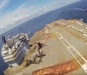Flying An RC Corsair From The USS Saratoga!