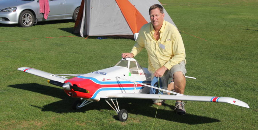Marc Simmons made the trip from Oviedo, Florida and did a lot of towing with his Hangar-9 33 percent Piper Pawnee.