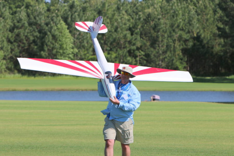 Andy Grouse from Tanner, AL with his ¼ scale Schweitzer 1-26, Andy also spent a lot of time towing with his E-Flite Carbon-Z cub on the electric/foamy flight line.