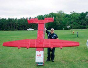 Matt Vaudrin and his huge Flying Fire Truck.
