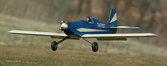 Blue Flash, A Glow Powered  25- 40 Size Sport Flyer - Fly RC